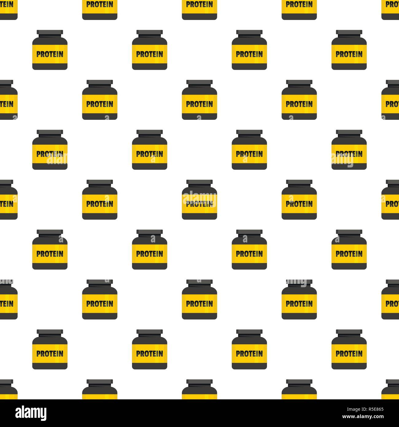 Kilogram protein pattern seamless vector repeat for any web design Stock Vector