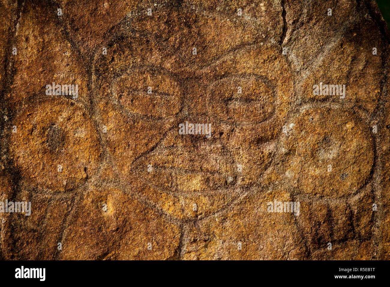 Puerto Rico, North Coast, Karst Country, Utuado, Parque Ceremonial Indigena de Caguana, monoliths at ancient Taino people's ceremonial site - Stock Image
