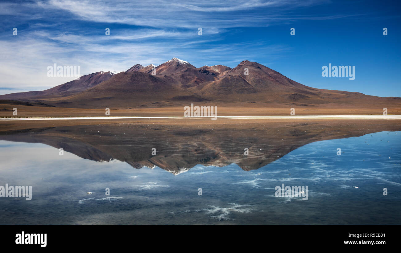 Laguna Cañapa in the Potosi Department of Bolivia - Stock Image
