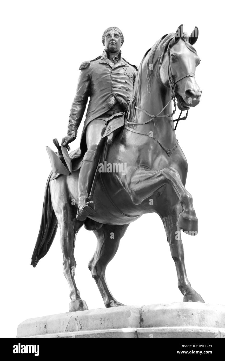 Equestrian statue of King George lll in Cockspur Street,Westminster,London,UK Stock Photo