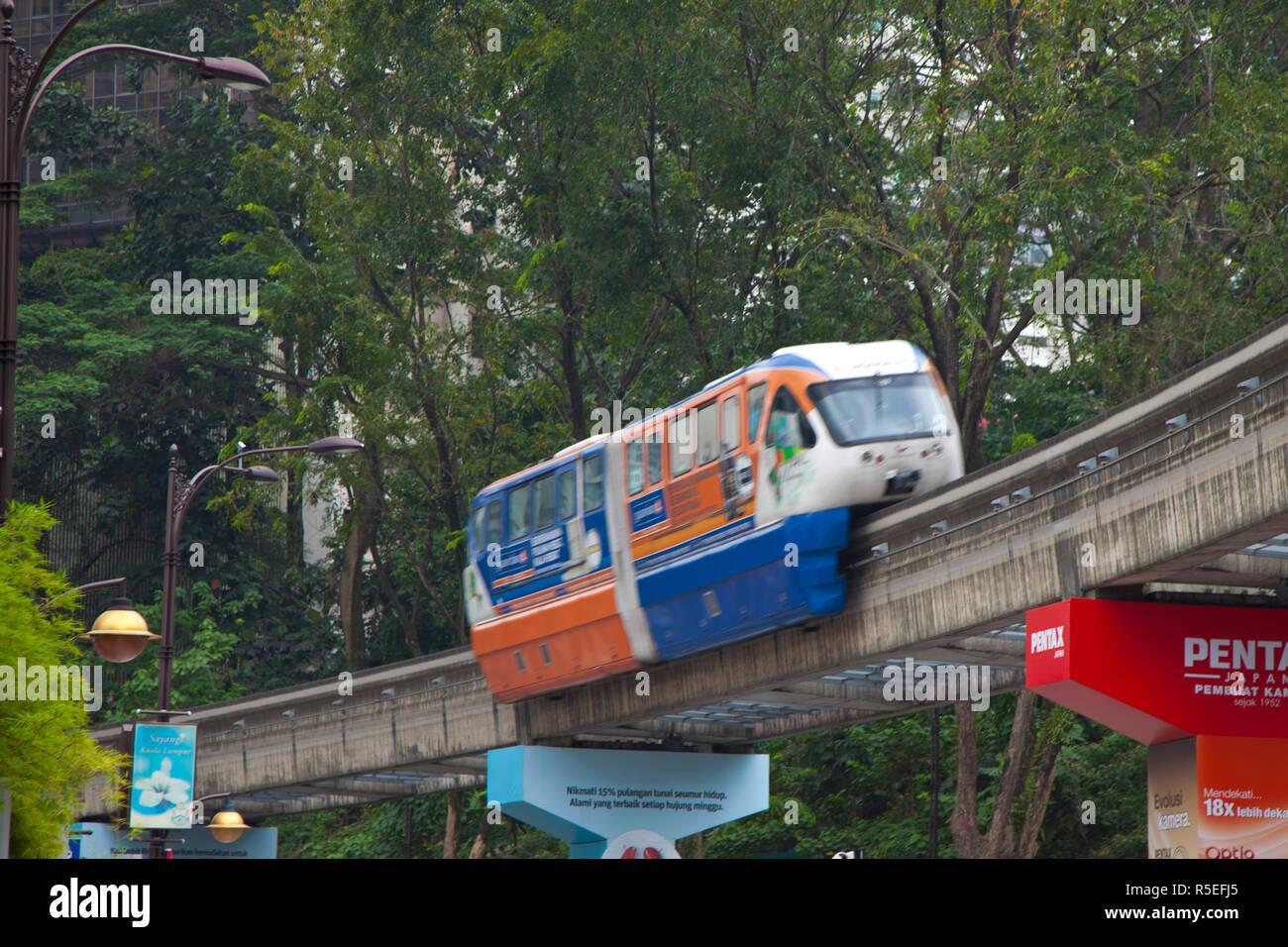 KL Monorail, Kuala Lumpur, Malaysia - Stock Image