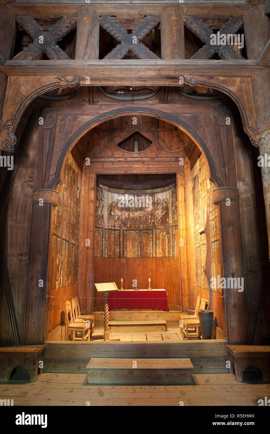 Gol Stave Church, Norwegian Folk Museum, Bygdoy Peninsula, Oslo, Norway - Stock Image
