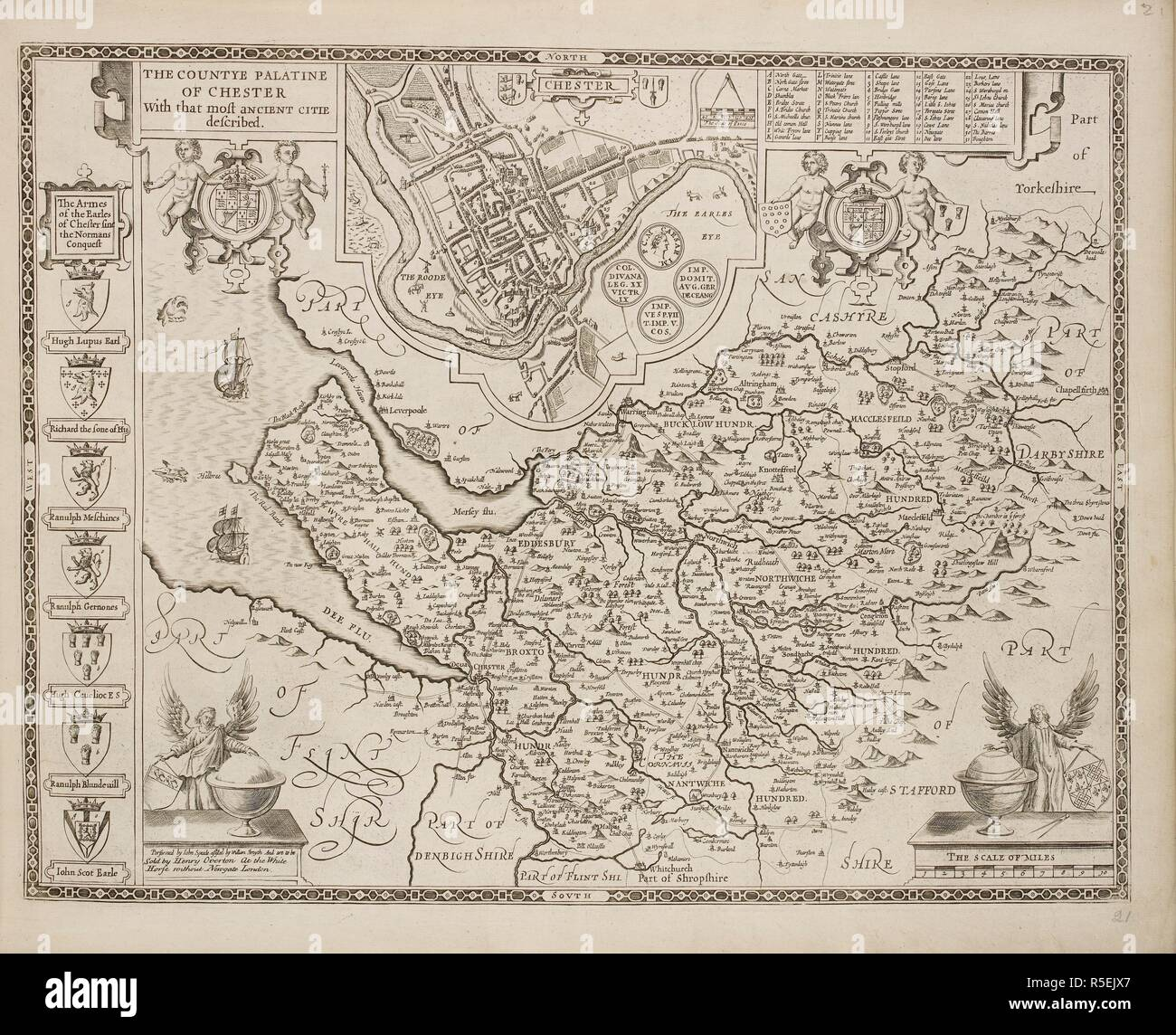 A Map Of The County Of Cheshire And The Town Of Chester A