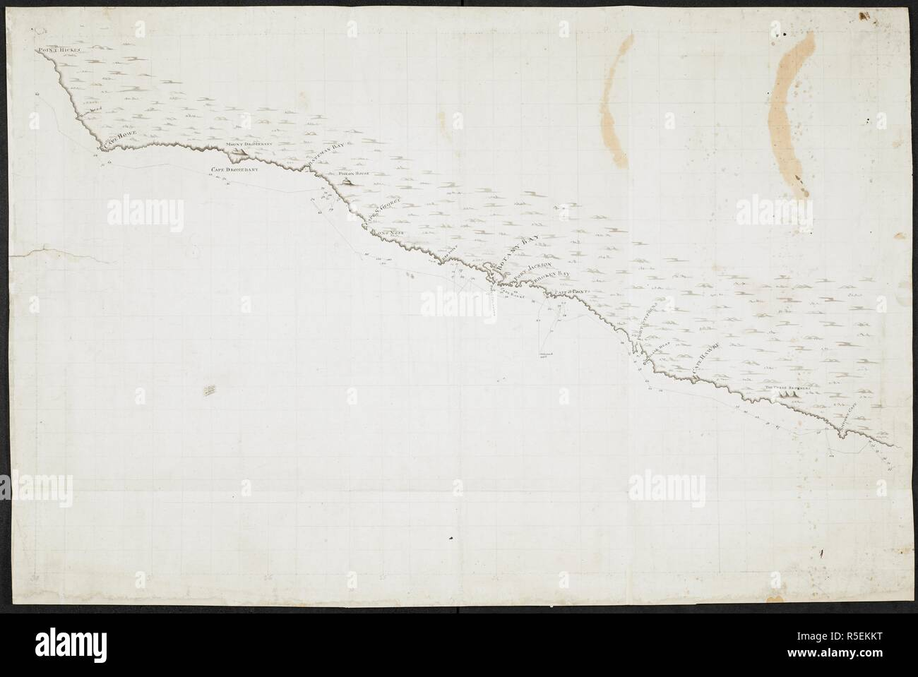 Map Of Australia 1770.Chart Of The Coast Of New South Wales Australia From Point Hicks