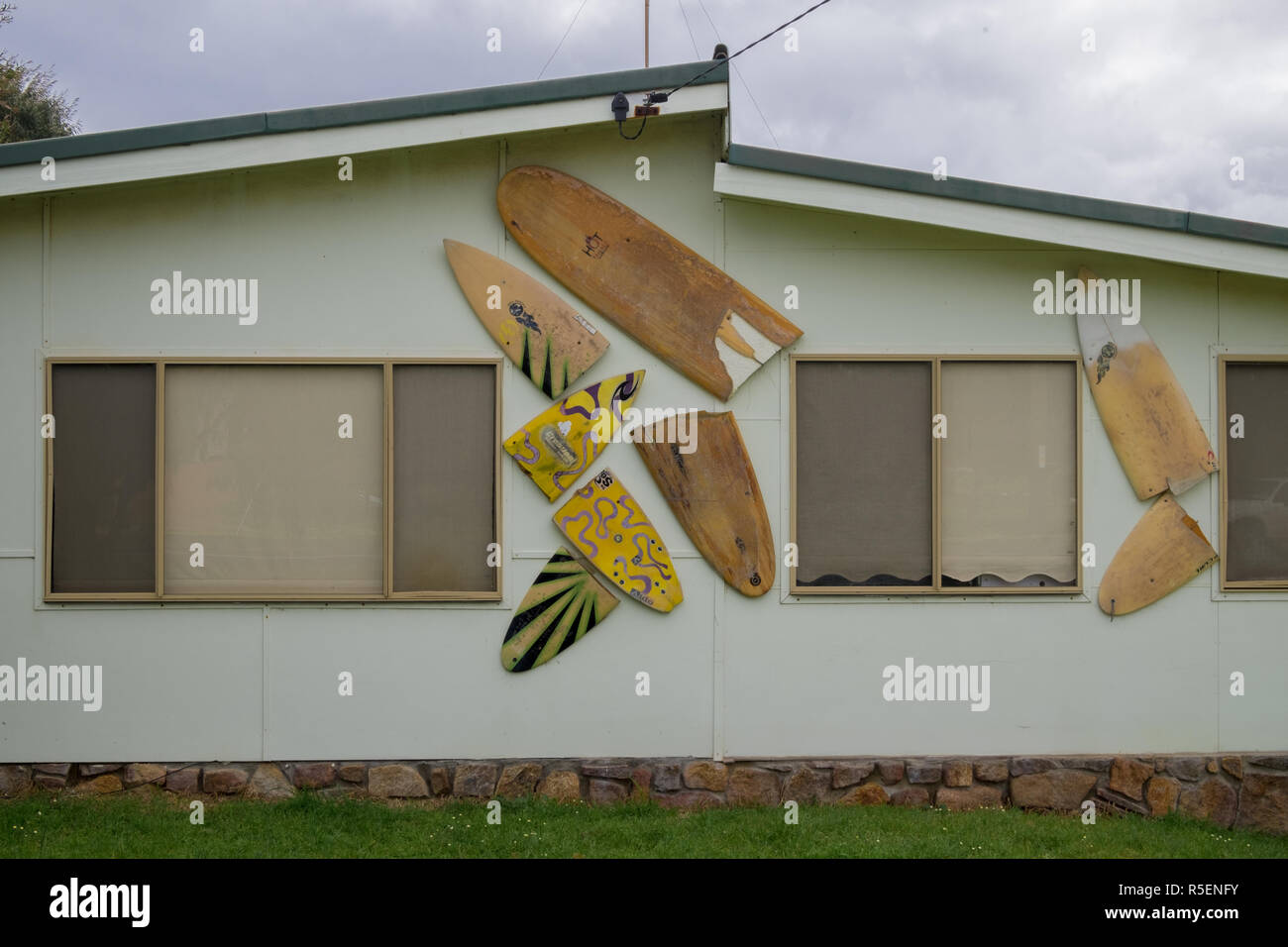 A Creative Way To Re Use Old Broken Surfboards On A House In
