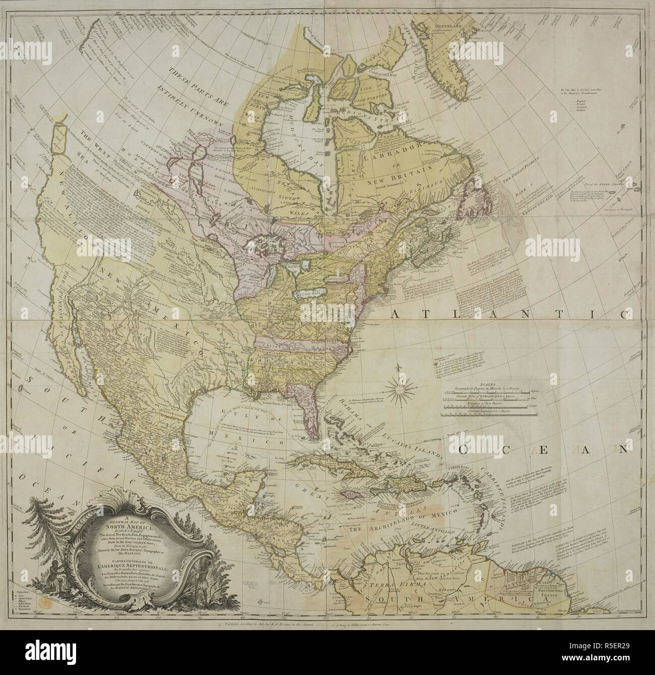 A Map Of North America A General Map Of North America In Which Is