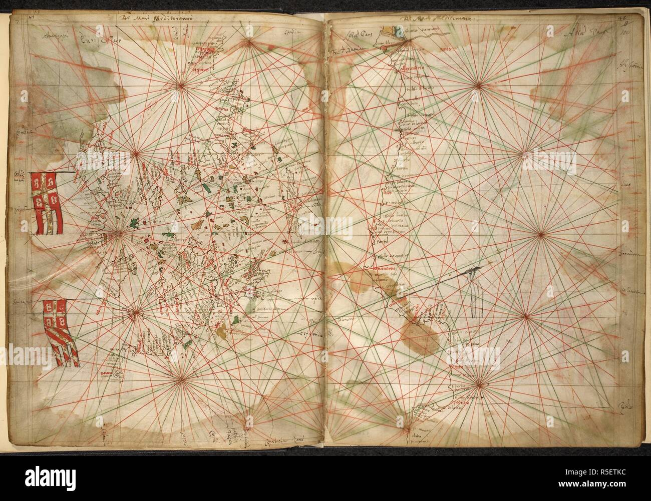 Portolan Chart Mediterranean High Resolution Stock Photography And Images Alamy