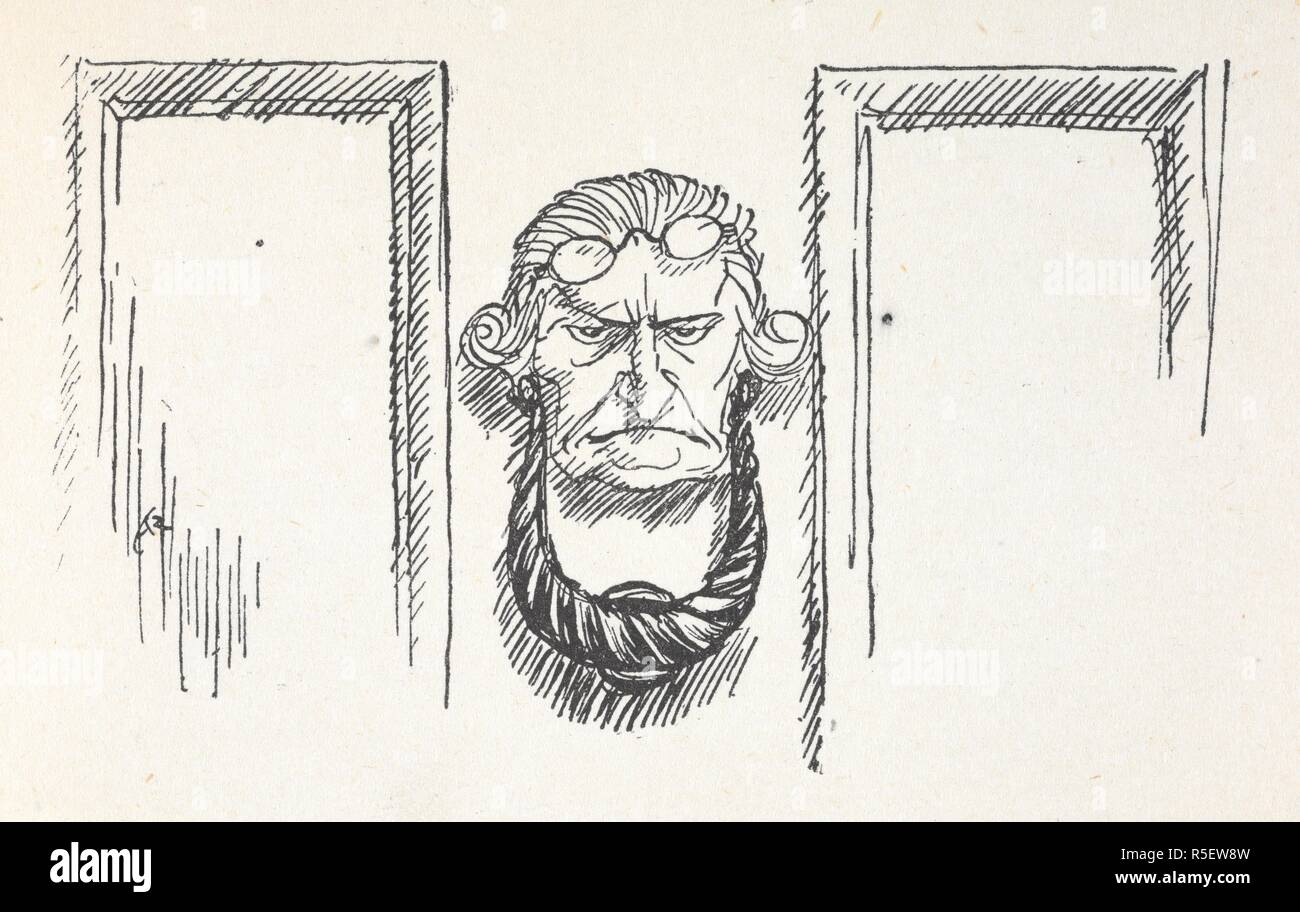 Front Door Knocker With The Face Of Scrooge A Christmas Carol Illustrated By Arthur Rackham London