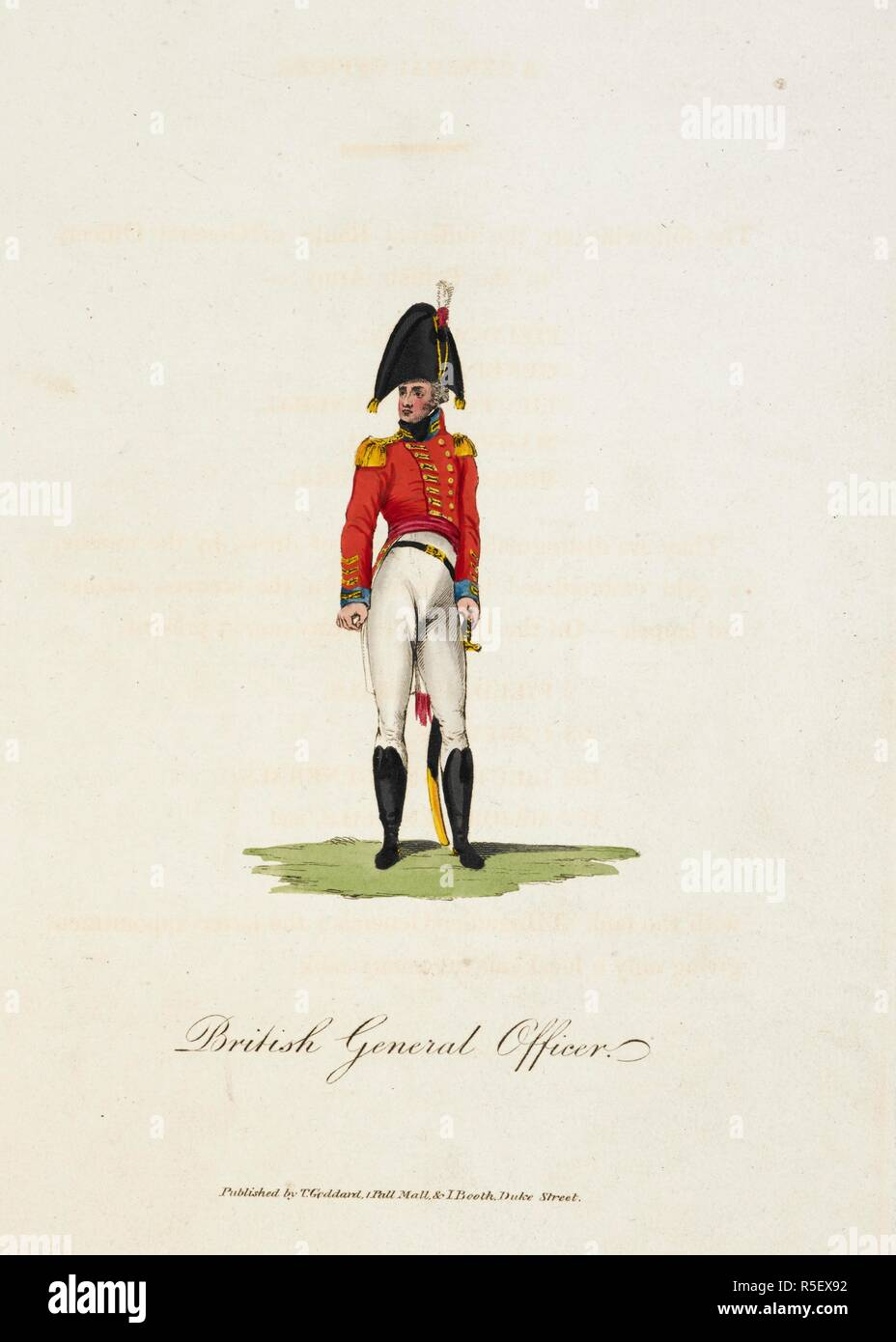 01c860b04b0 British General Officer. He wears a cocked hat and red jacket with  epaulettes
