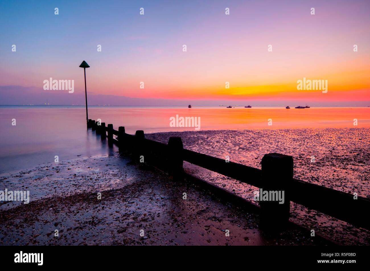 UK, England, Essex, Thames Estuary, Southend, Shoeburyness - Stock Image