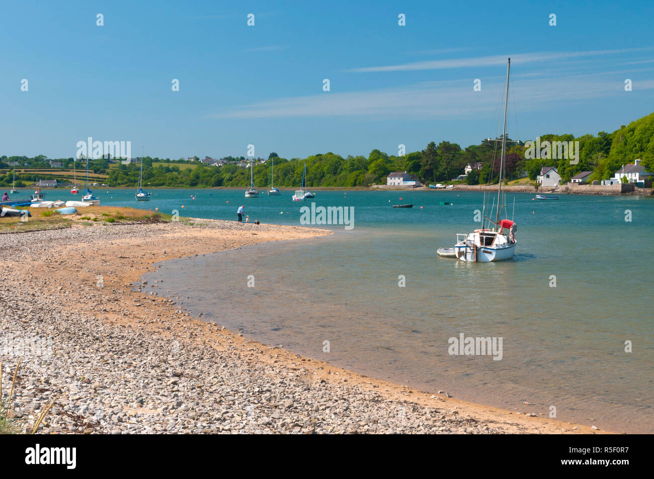 United Kingdom, Wales, Gwynedd, Anglesey, Red Wharf Bay Stock Photo