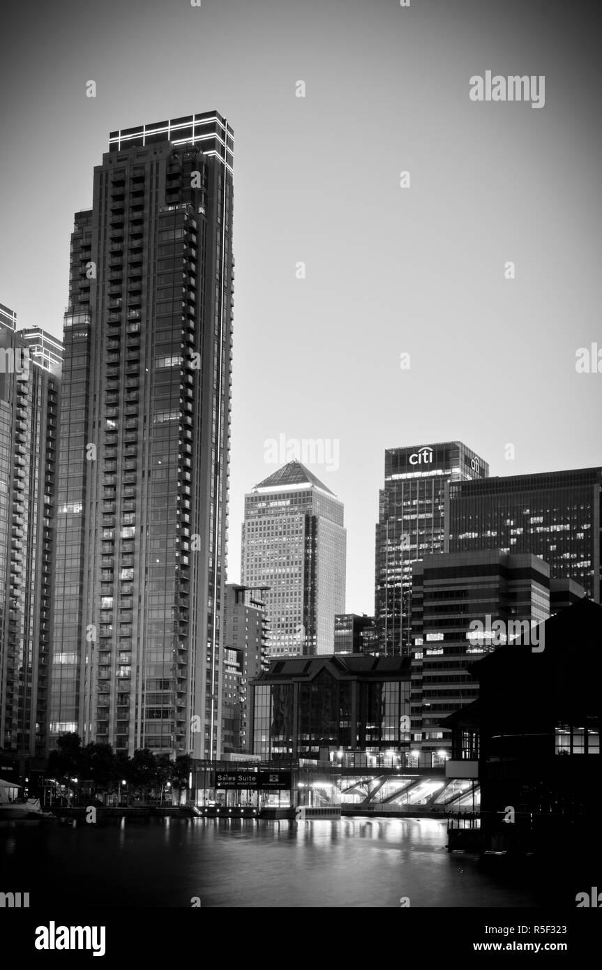 UK, London, Docklands, Canary Wharf - Stock Image