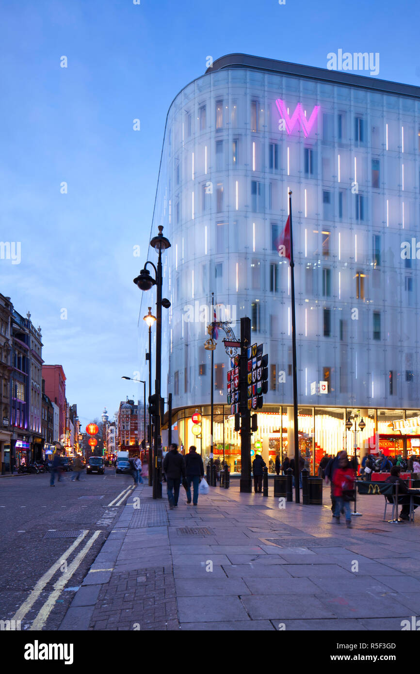W Hotel, Leicester Square, London, England, UK - Stock Image