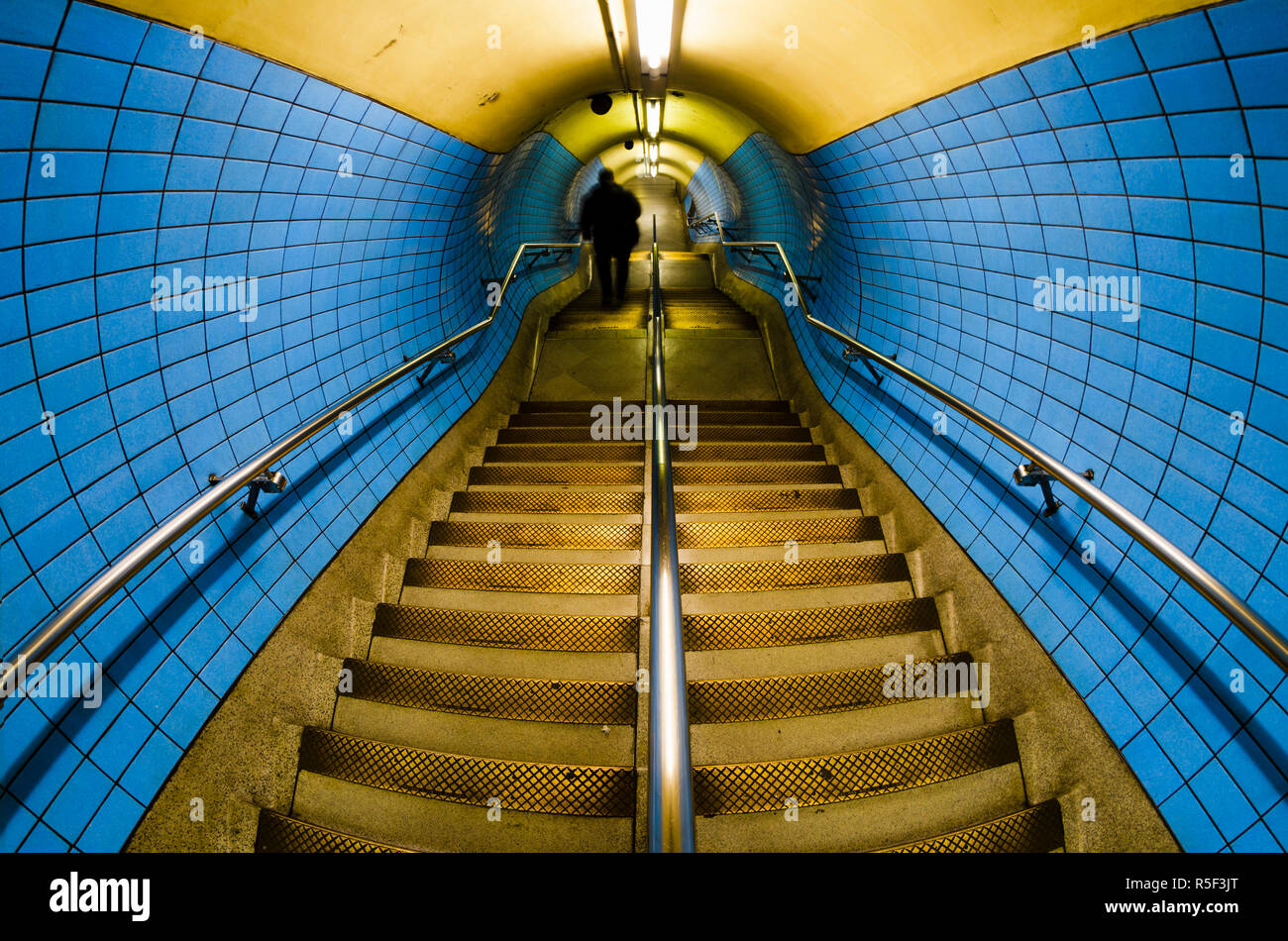 UK, England, London, Embankment Underground Station - Stock Image