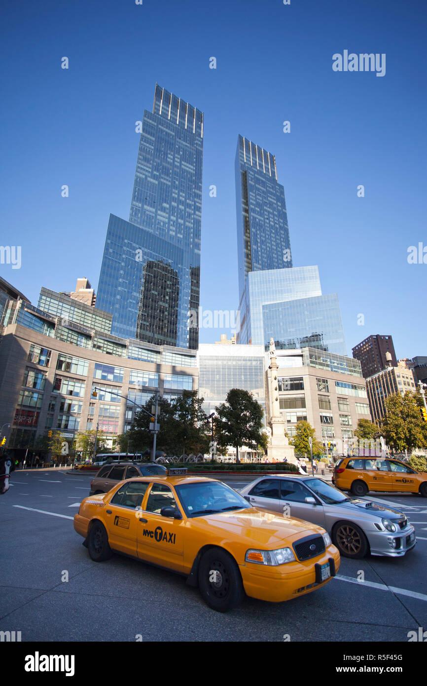 Time Warner Center, Columbus Cirlce, Manhattan, New York City, USA - Stock Image
