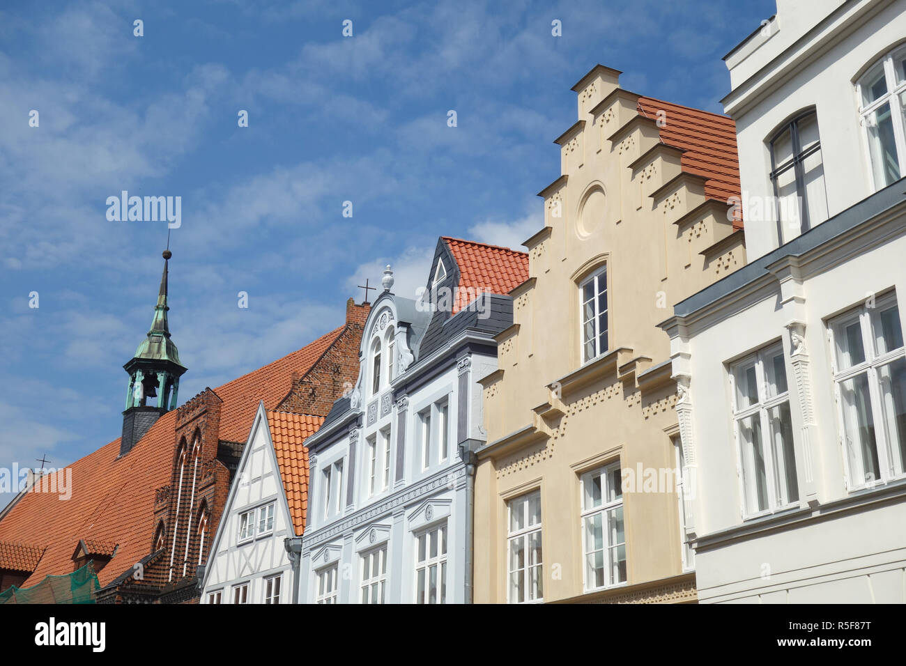 house gable of the old town of wismar - Stock Image