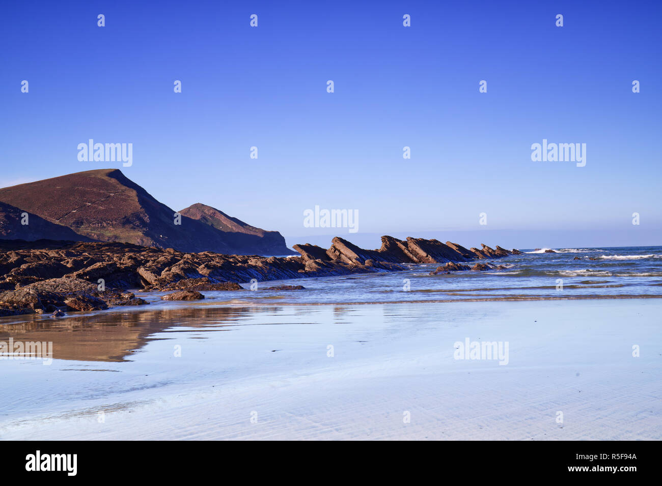 Crackington Haven on the South West Coast Path in Cornwall UK - Stock Image