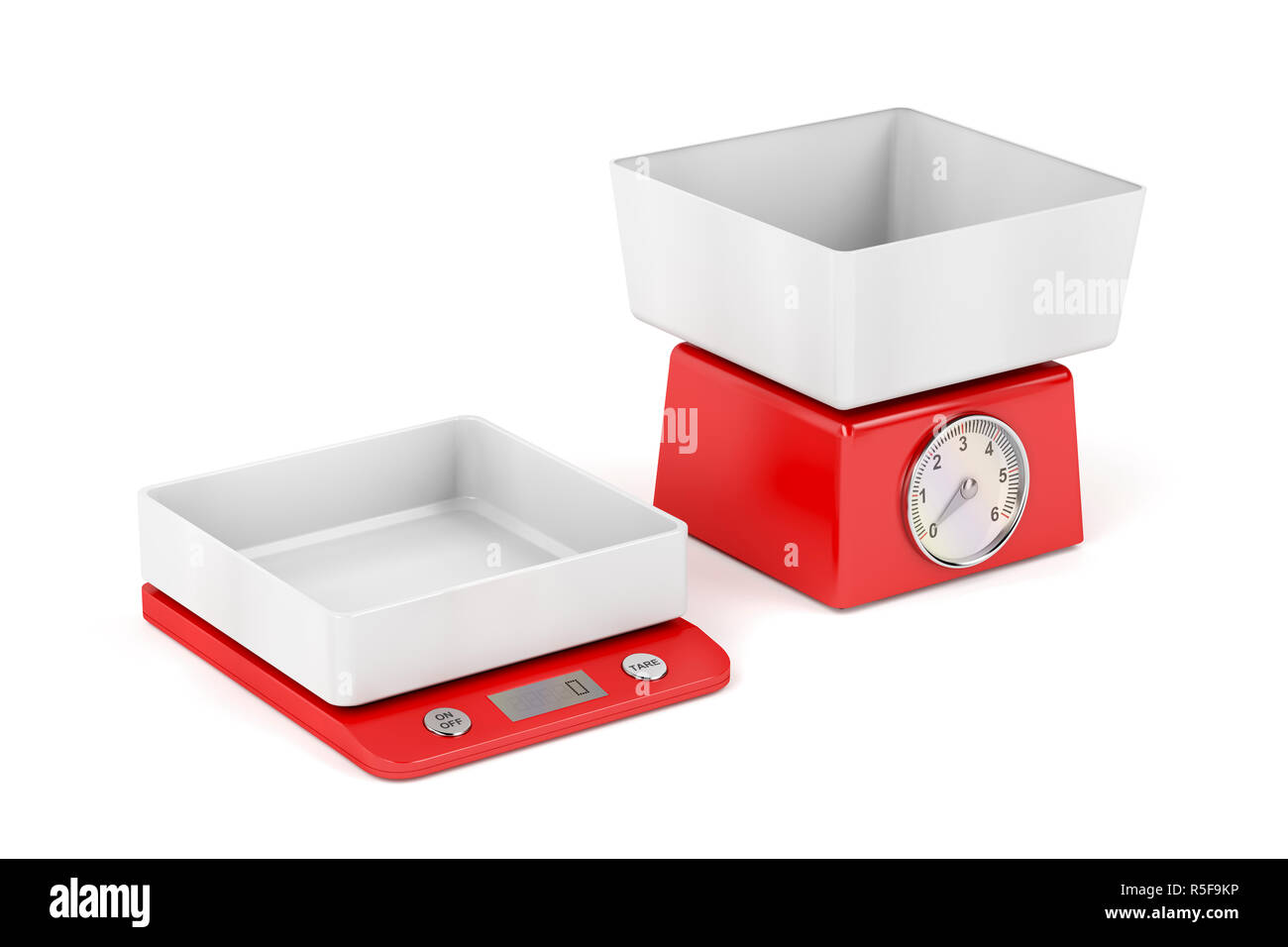 Kitchen weight scales - Stock Image