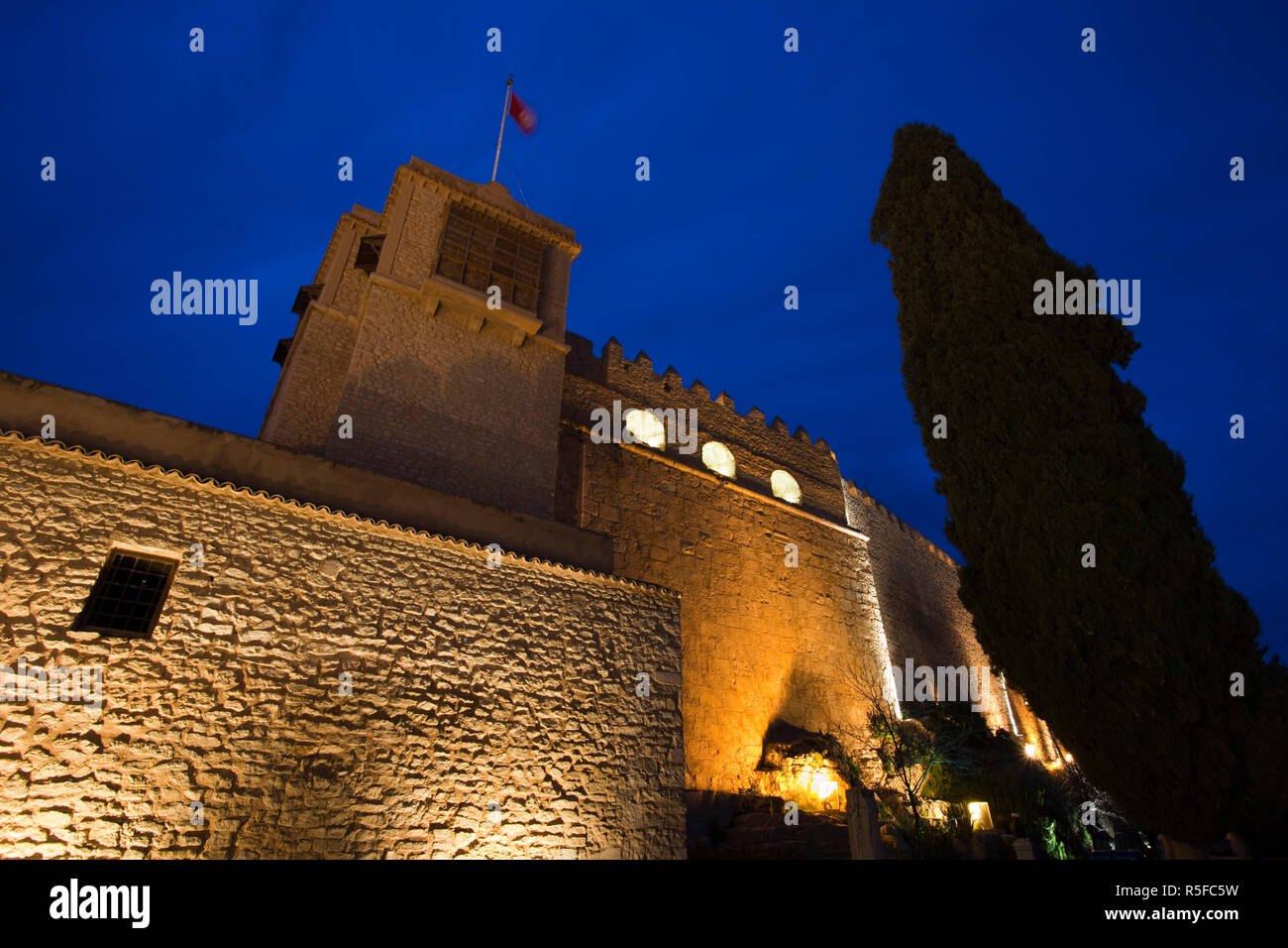 Tunisia, Central Western Tunisia, Le Kef, The Kasbah, evening - Stock Image