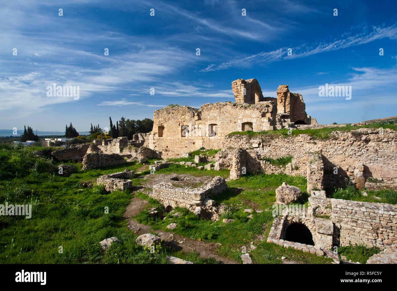 Tunisia, Northern Tunisia, Bulla Regia, ruins of underground Roman-era villas - Stock Image