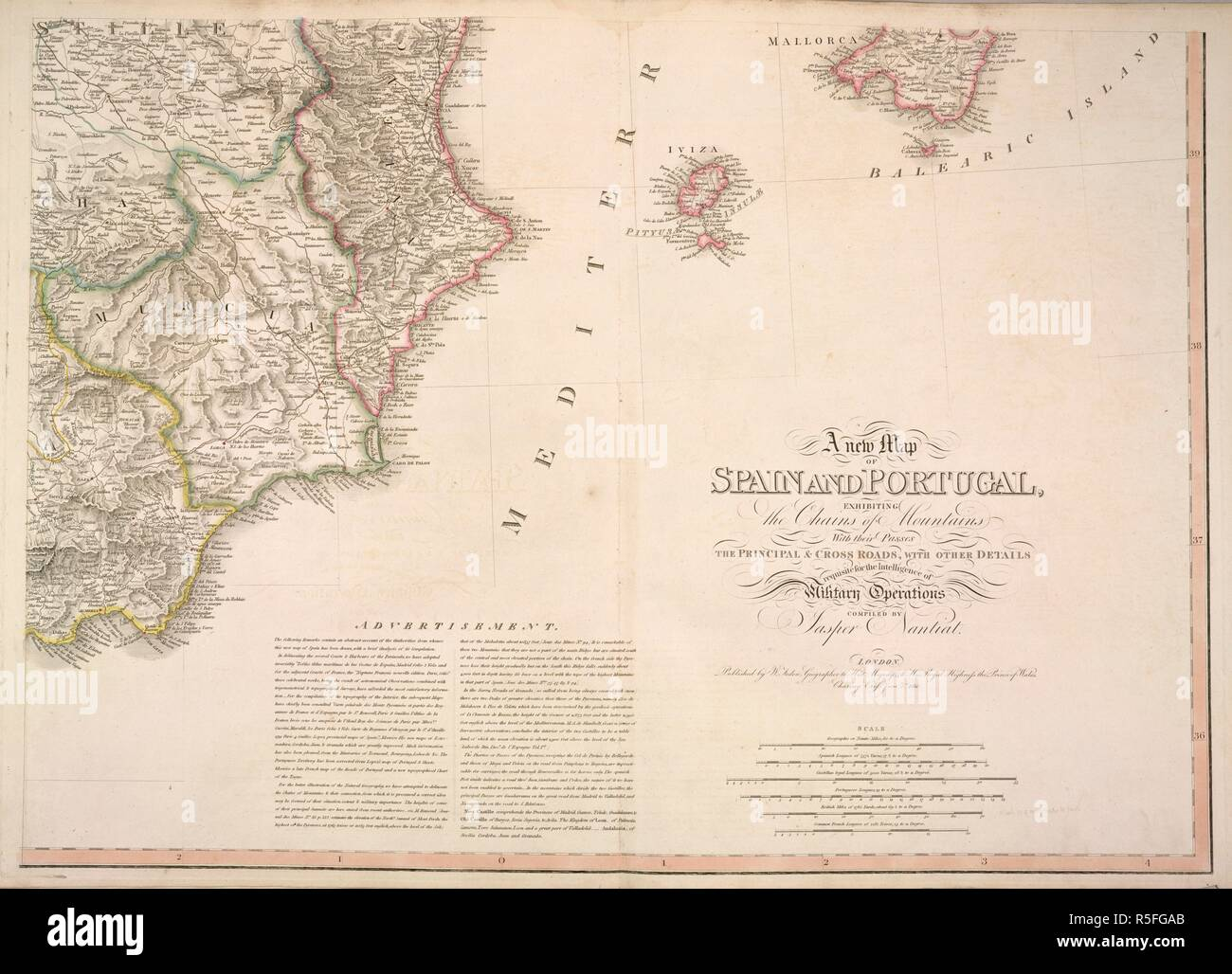 Map Of East Coast Of Spain.Map Of The East Coast Of Spain Showing Castilla Murcia