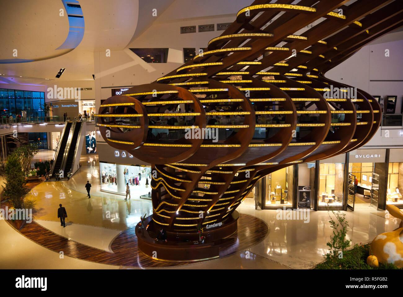 USA, Nevada, Las Vegas, CityCenter, Crystals Luxury Mall, interior - Stock Image
