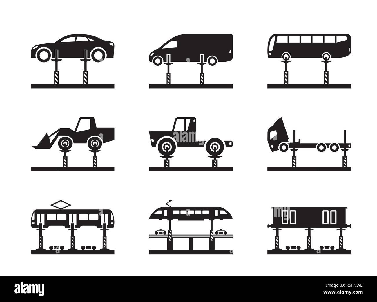 Heavy industry lifting equipment - vector illustration - Stock Vector