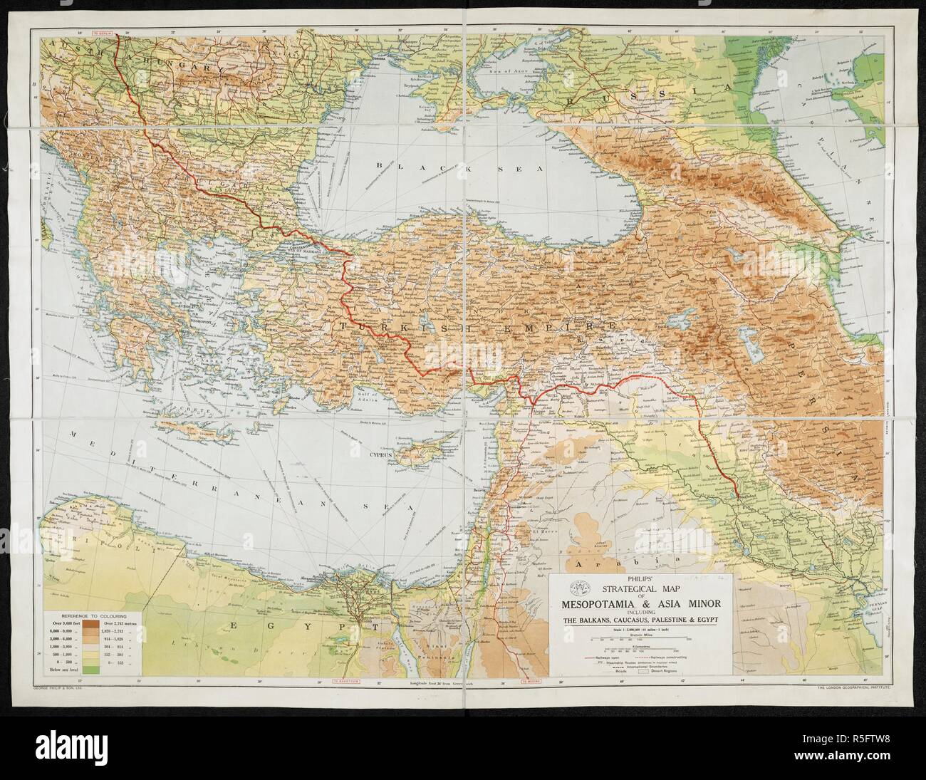 Map Of Asia Minor.A Strategical Map Of Mesopotamia And Asia Minor Philips