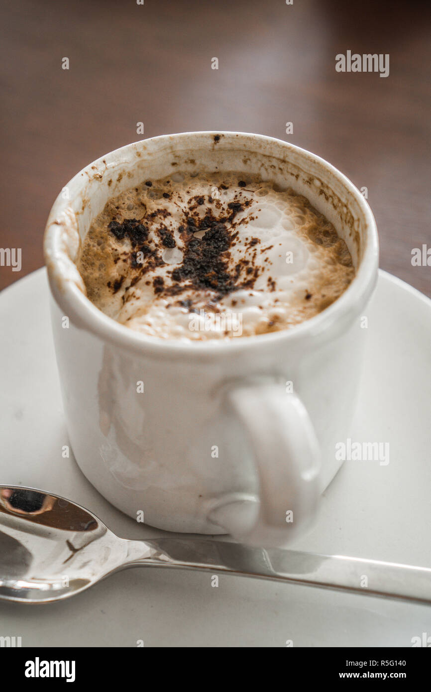 Kaffee Nahaufnahme mit Schaum. Coffee close up - Stock Image
