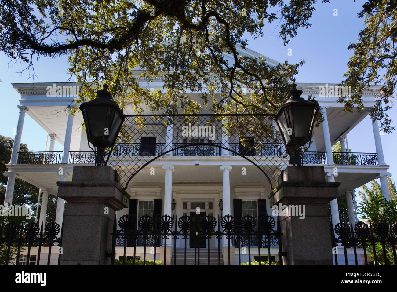 USA, Louisiana, New Orleans, Garden District, Buckner House, Garden District Mansion - Stock Image