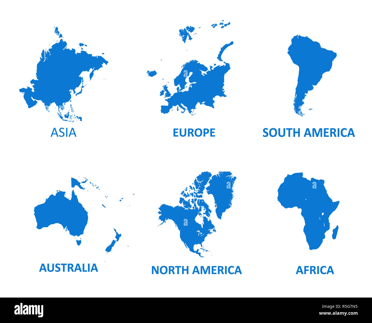 World Continents vector map. vector illustration on white background ...