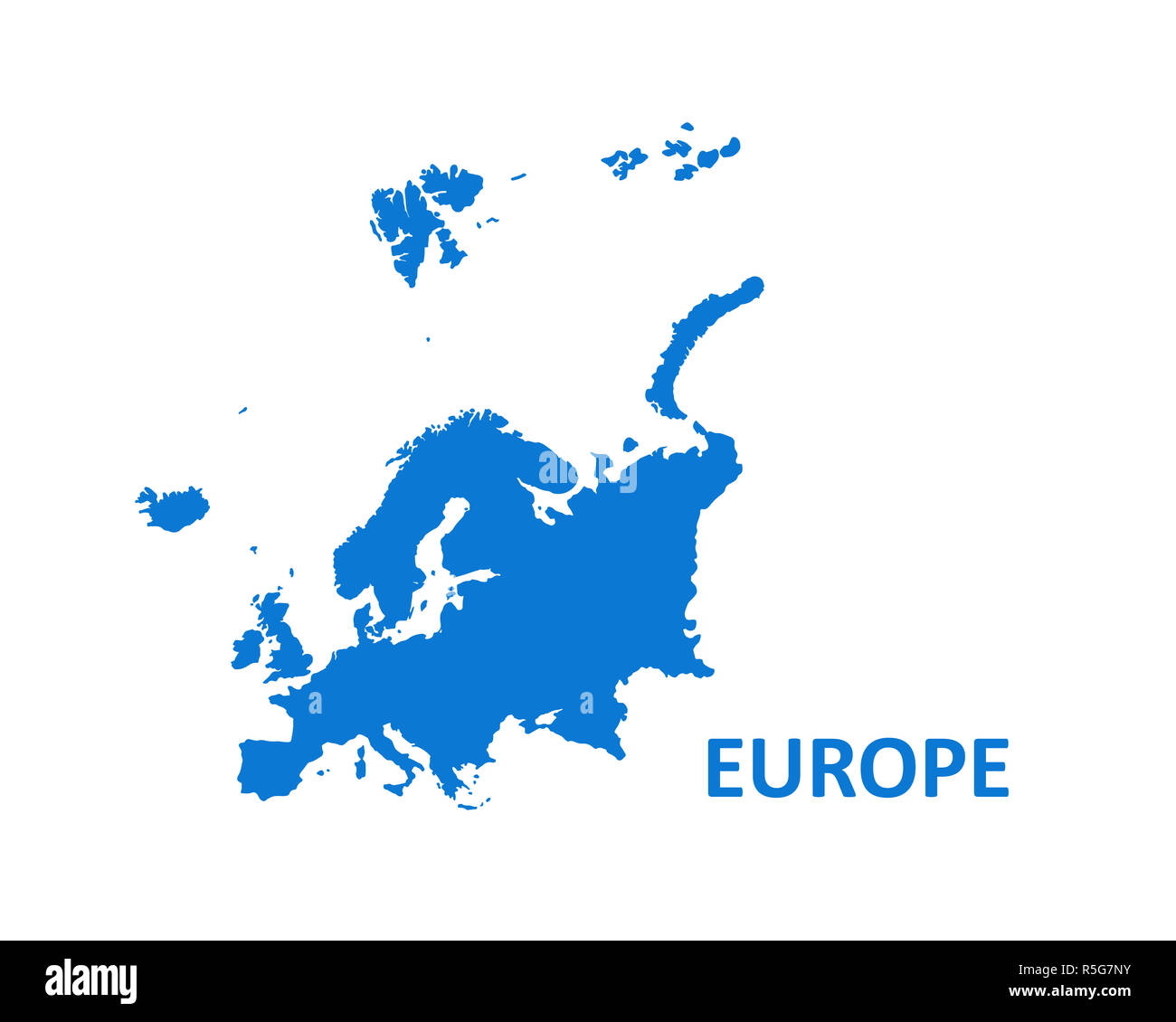 Europe Continent Map. vector illustration on white background. - Stock Image