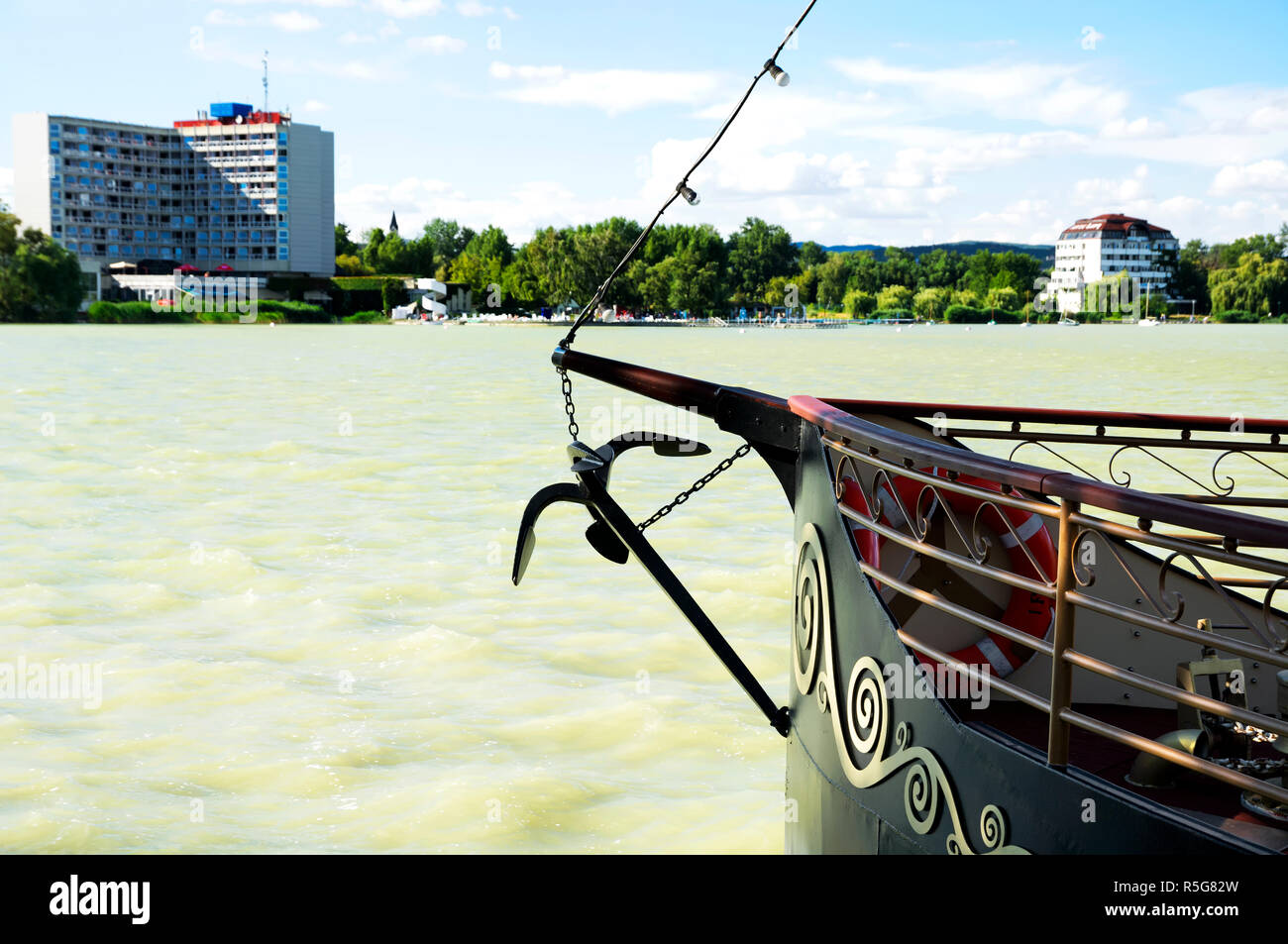 Detail Of Lake Balaton At Keszthely Hungary Stock Photo
