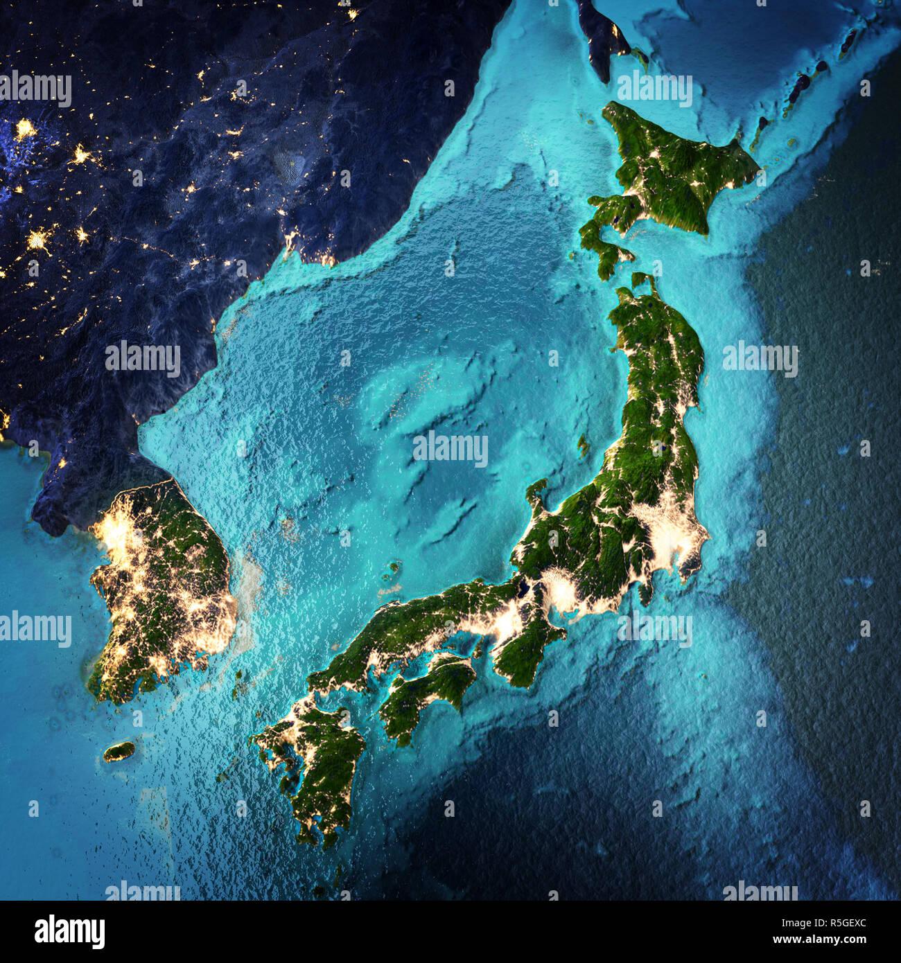 Japan and Korea Stock Photo