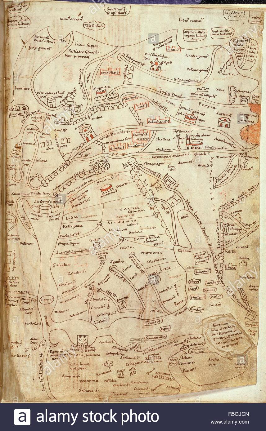 Jerome Map Of Asia Works Of St Jerome France 12th Century