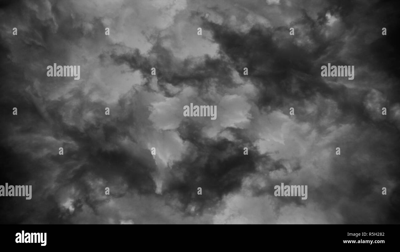 Stormy cloudy sky background or texture - Stock Image