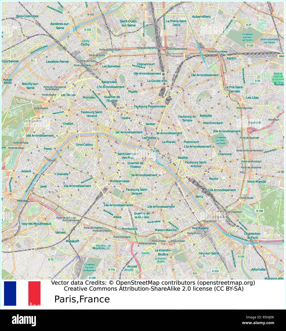 Gard Du Nord Paris Map.Paris Metro Stock Vector Images Alamy