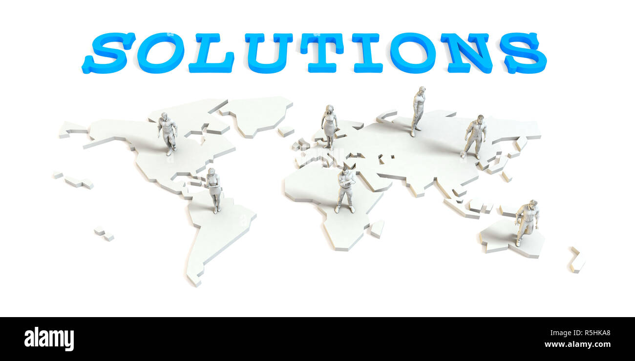 Solutions Global Business Stock Photo