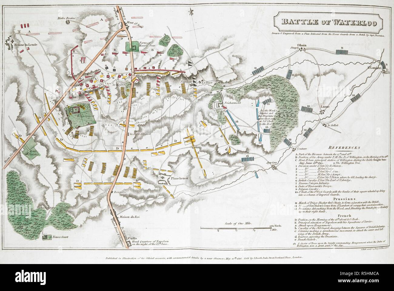 Battle of Waterloo  Drawn & engraved from a plan delivered