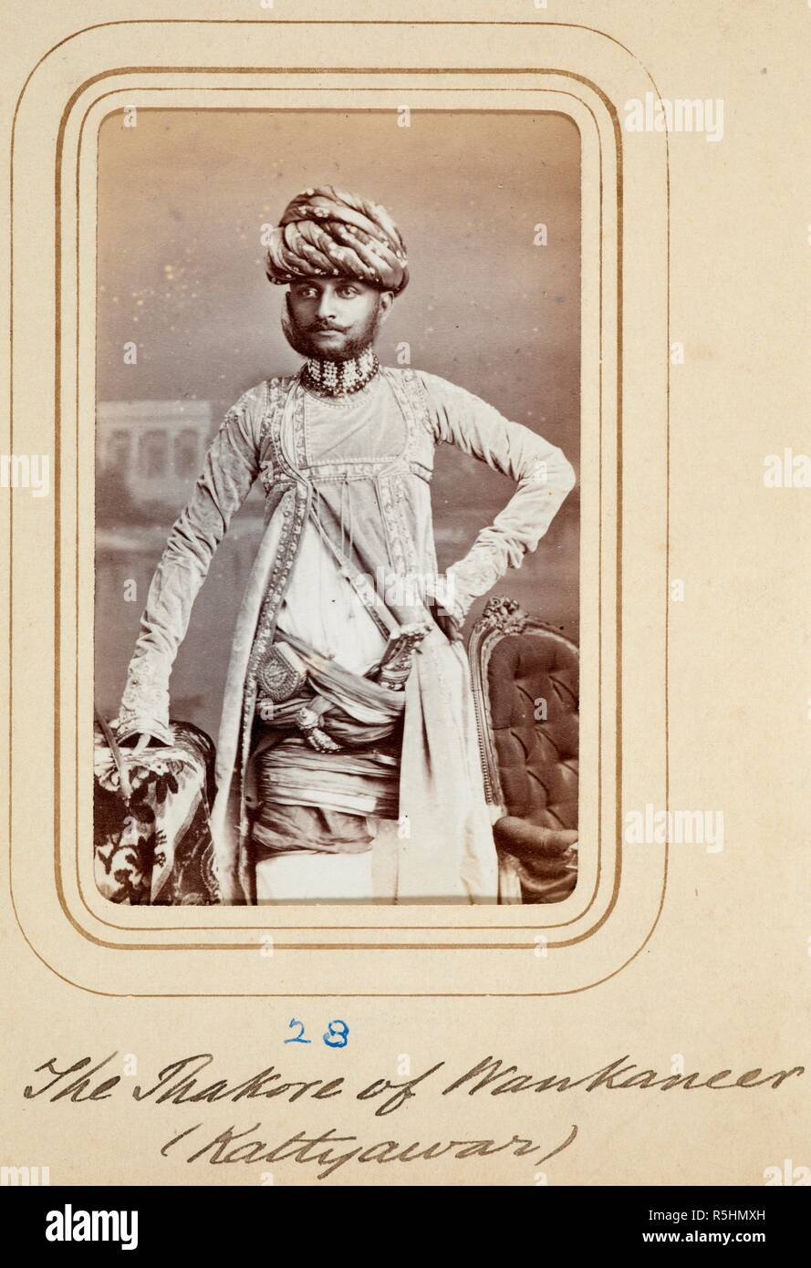 A Three Quarter Length Standing Carte De Visite Portrait Album Of Cartes Portraits Indian Rulers And Notables Early 1870s Photograph
