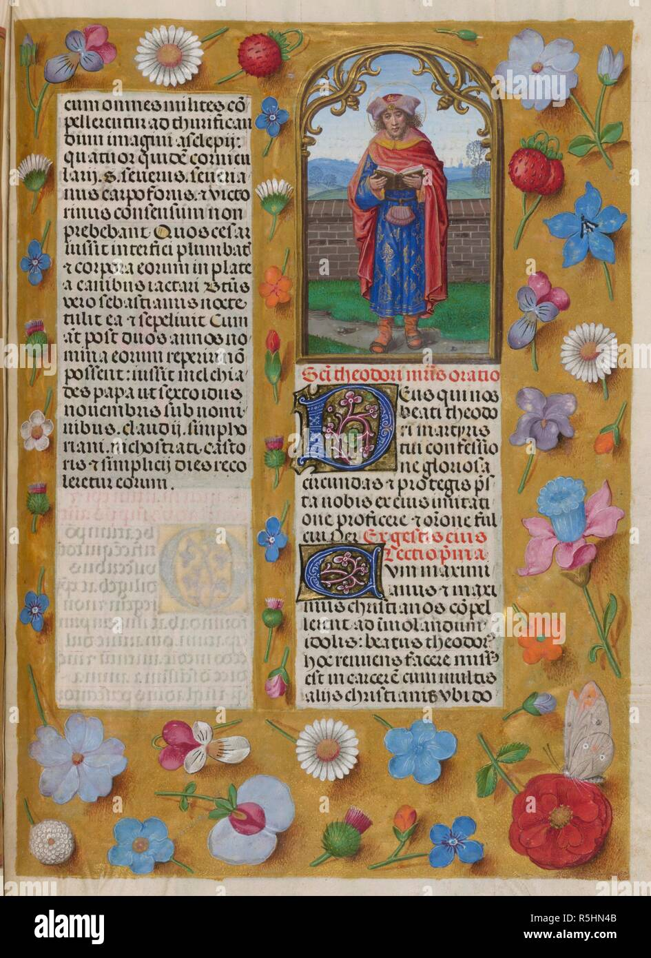 Sanctorale. St Theodore. Isabella Breviary. Breviary, Use of the Dominicans ('The Breviary of Queen Isabella of Castile'). c1497. Source: Add. 18851 f.485. Author: Master of James IV of Scotland. - Stock Image