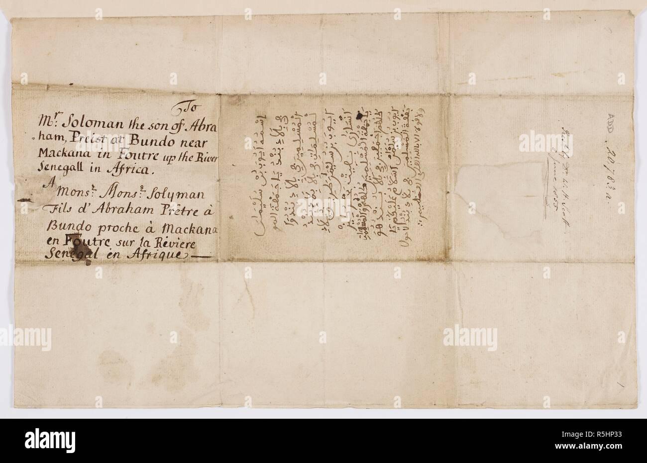 letter written by ayuba suleiman diallo to his father ayuba