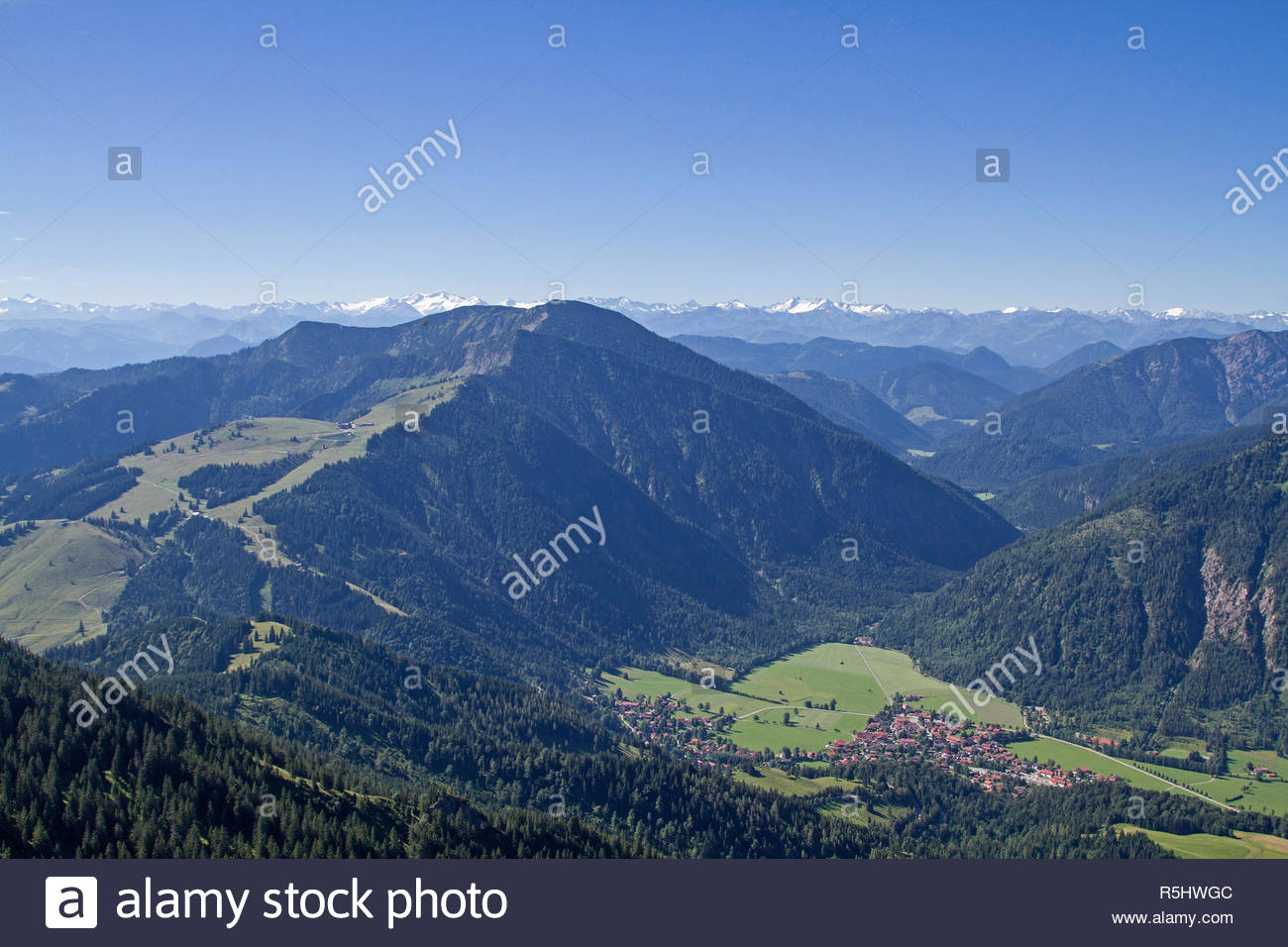 bayrischzell in the leitzachtal - Stock Image