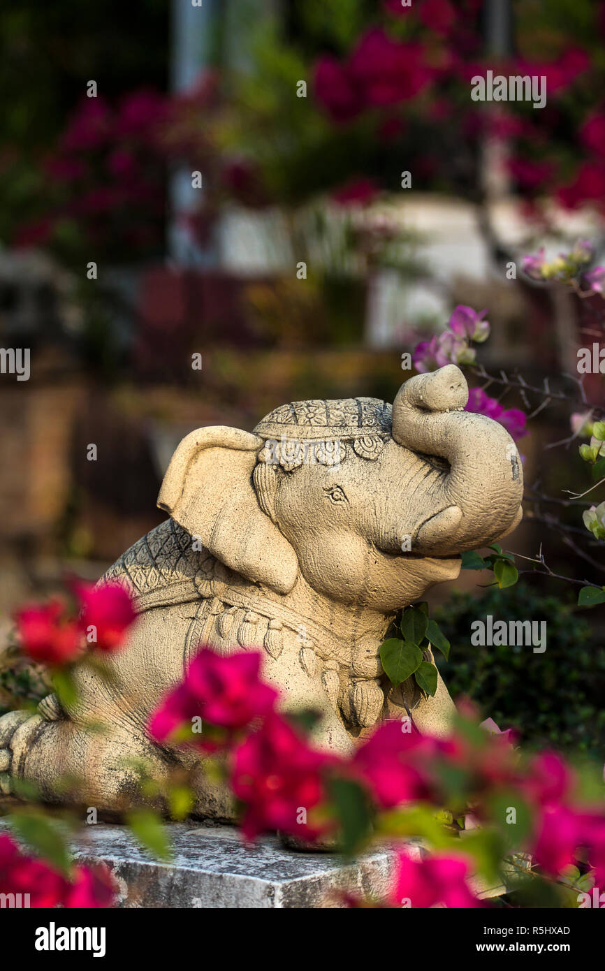 Ornament of a buddhist temple in Chiang Mai Thailand. - Stock Image