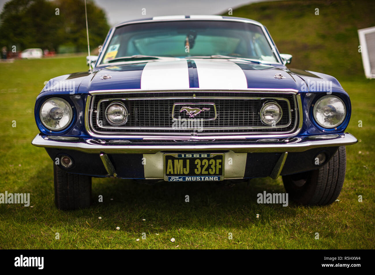 Ford mustang 1967 8 uk stock image