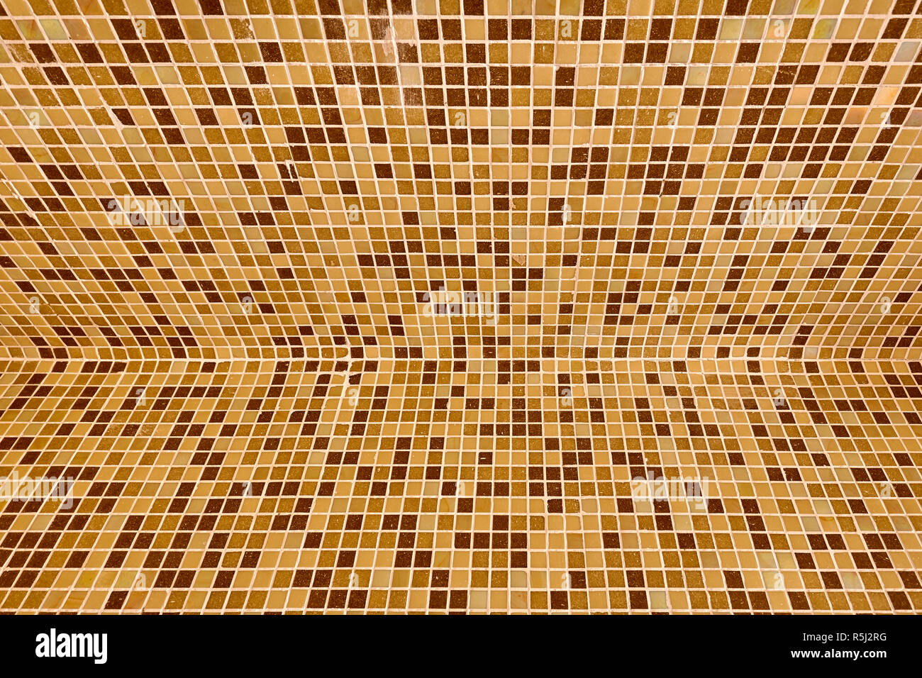 tile in beige tones of the background - Stock Image