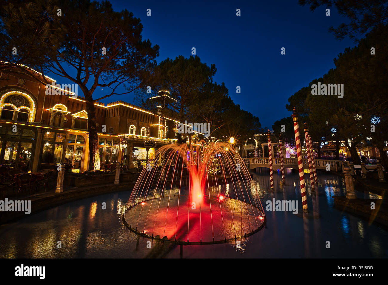 Winter Christmas Holiday in Europa-Park - Stock Image