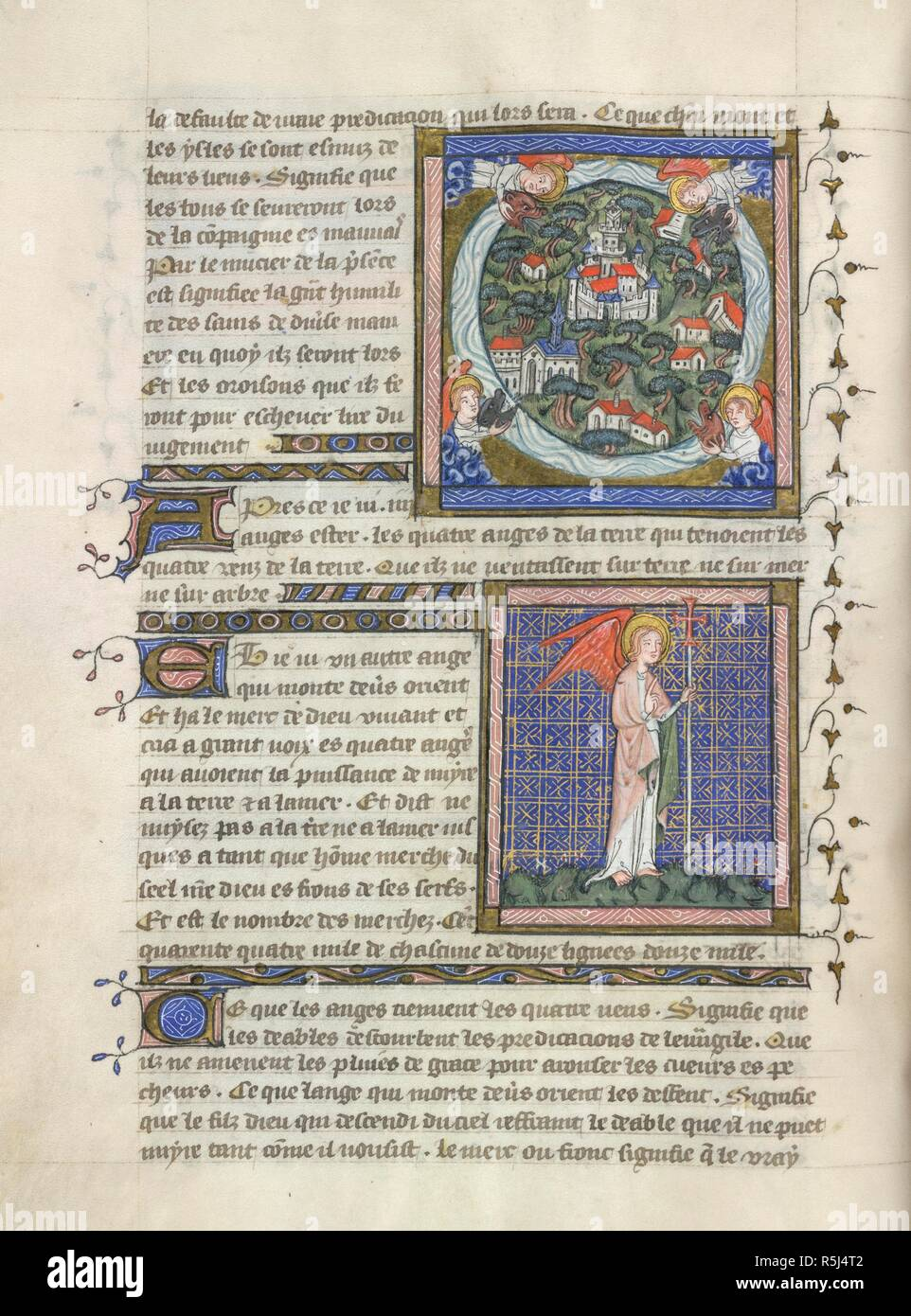 Miniature Of Angels Holding The Four Winds Beasts Heads At The