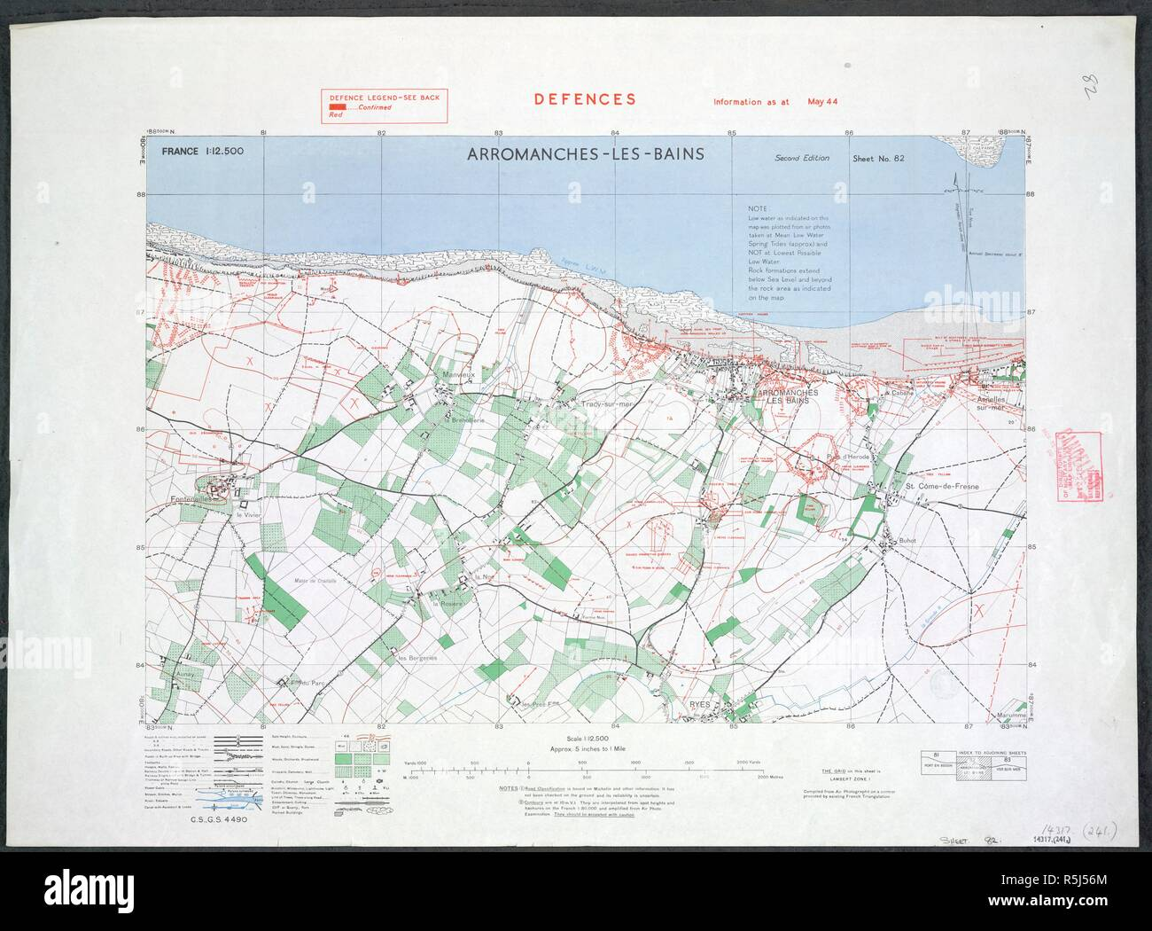 Arromanches Les Bains The French Coast A Map Of The Second World