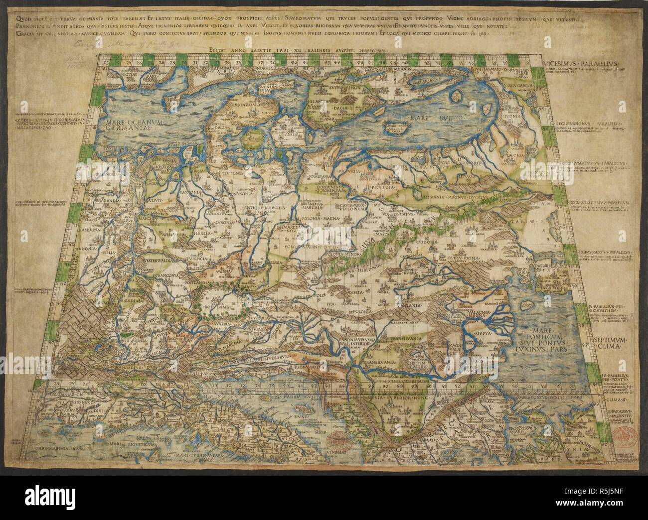 15th Century Map Of Europe.15th Century Map Europe Stock Photos 15th Century Map Europe Stock